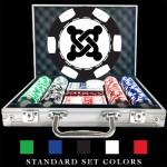 100 Premium Custom Poker Chip Set - 6 Stripe