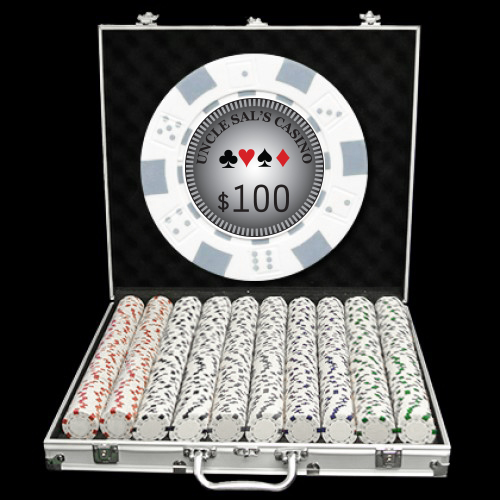 1000 Premium Custom Poker Chip Set - Aluminum Case