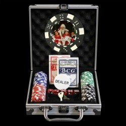 100 Photo Poker Chip Set - Custom Overlay