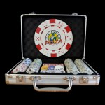 200 Premium Custom Poker Chip Set - Aluminum Case