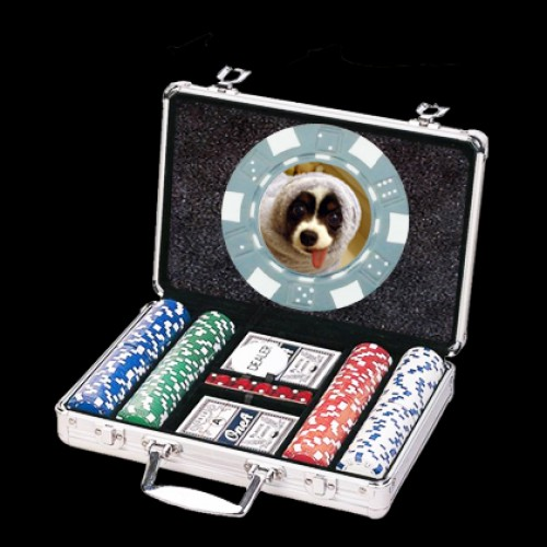 200 Photo Poker Chip Set - Custom Overlay