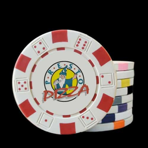 The Dice Custom Poker Chip - Full Color Direct Print
