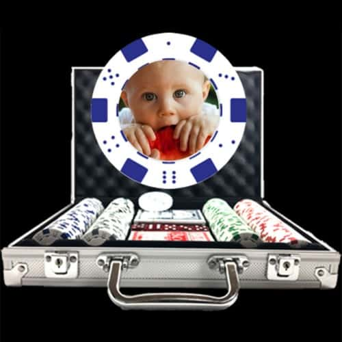Photo Poker Chip Set - Custom Overlay Design