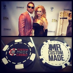 25A Magazine Party - Custom Poker Chips meets Custom Suits