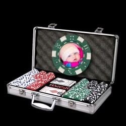 300 Photo Poker Chip Set - Custom Overlay