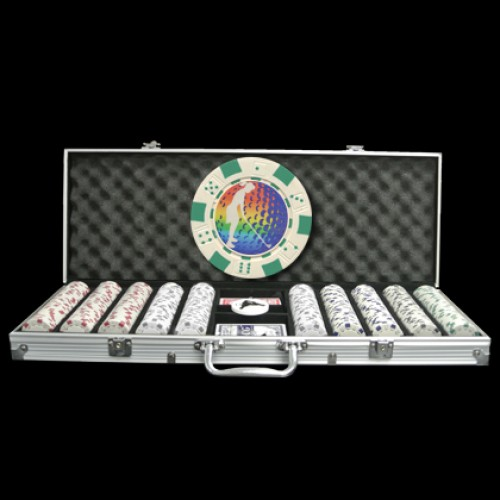 500 Premium Custom Poker Chip Set - Aluminum Case