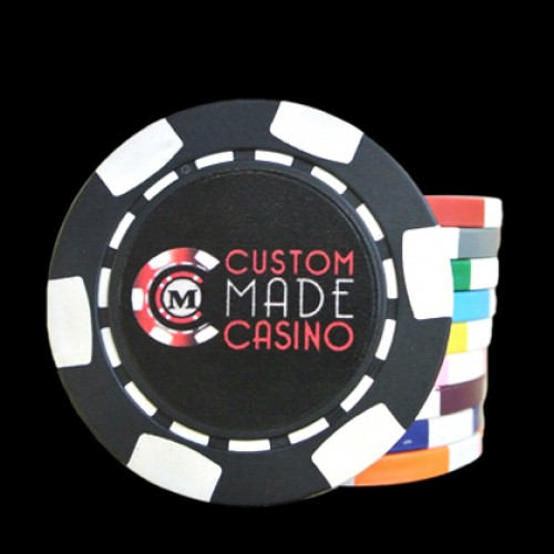 100 6 Stripe Direct Print Custom Poker Chip - Full Color