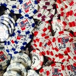 100 6 Stripe Custom Poker Chip Deluxe - Full Color Direct Print