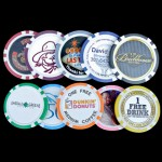8 Stripe Custom Poker Chips - Inlay Design