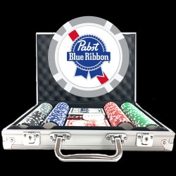 Premium Custom Poker Chip Set - 8 Stripe