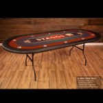 THE ULTIMATE POKER TABLE - FOLDING LEGS
