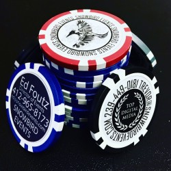 Custom Poker Chip Business Cards