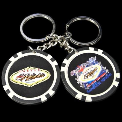 Custom Poker Chip Key Chains