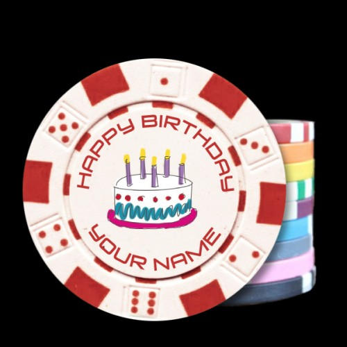 Birthday Custom Poker Chips - Dice