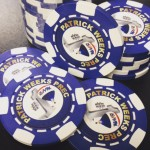6 Stripe Direct Print Custom Poker Chips - Design