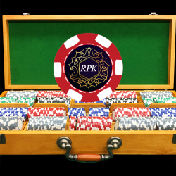 500 Luxury Custom Poker Chip Set - Oak Case