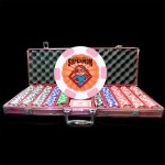 Special Edition Pink 500 Premium Custom Poker Chip Set - Aluminum Case