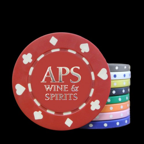 Suited  Hot Stamp Custom Poker Chips