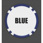 100 8 Stripe Custom Poker Chip - Full Color Inlay