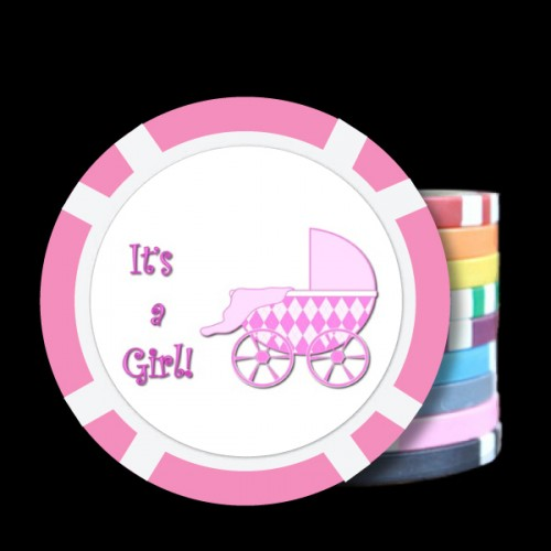 It's A Girl! Custom Poker Chips