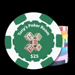 Poker Theme'd Custom Poker Chips