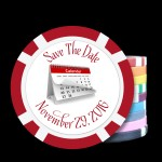Save The Date Custom Poker Chips