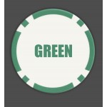 8 Stripe Custom Poker Chips - Direct Print Design