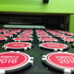 How are Custom Poker Chips printed?