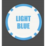 The 8 Stripe Custom Poker Chip - Full Color Direct Print