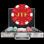Value Custom Poker Chip Set - Dice Design