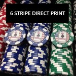 Premium Custom Poker Chip Set - 6 Stripe Deluxe
