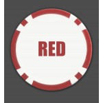 500 8 Stripe Custom Poker Chip Business Cards - 500 Count