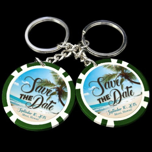 Wedding Poker Chip Key Chains