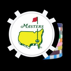 100 8 Stripe Golf Ball Marker - Full Color Inlay