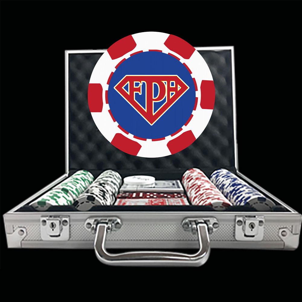 Premium Custom Poker Chip Set 6 Stripe Deluxe