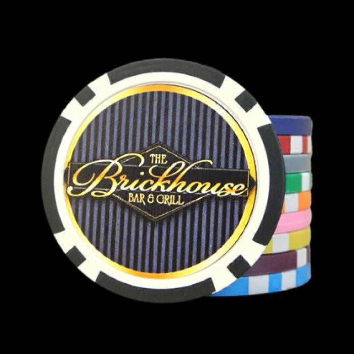 Custom golf poker chips