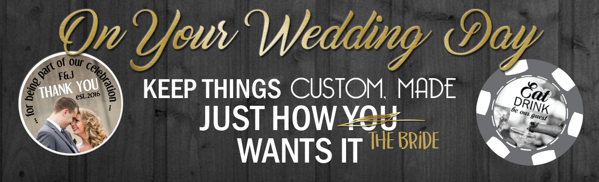 Wedding Custom Poker Chips For Your Special Day