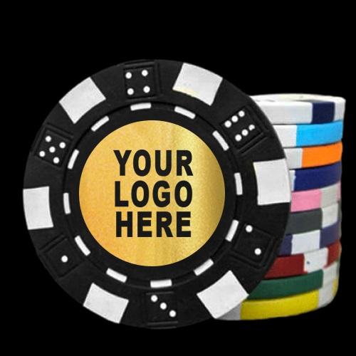 Logo poker chips custom